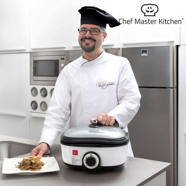Food Processor Chef Master Kitchen Quick Cooker 5 L 1300W Black White