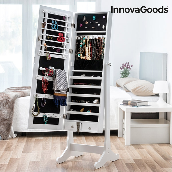 miroir porte bijoux xxl innovagoods innovadeals. Black Bedroom Furniture Sets. Home Design Ideas