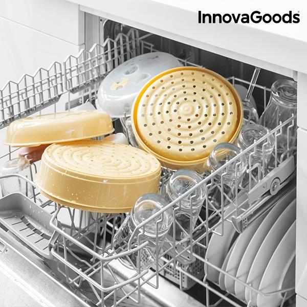 cuiseur vapeur double pour micro ondes innovagoods innovadeals. Black Bedroom Furniture Sets. Home Design Ideas